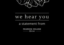 We hear you | A Statement from Ty Pile, President and Head of College