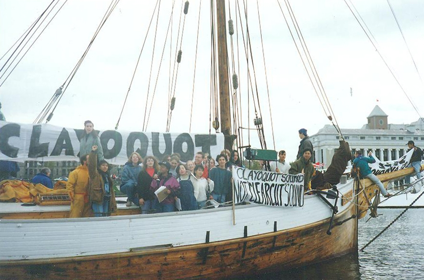 1993: Clayoquot Sound protesters