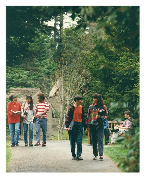 circa 1998-2000:Classic shot of campus life