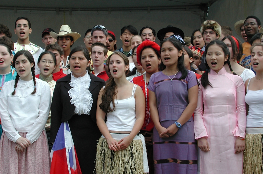 2004:Pearson College Choir singing at Metchosin Day