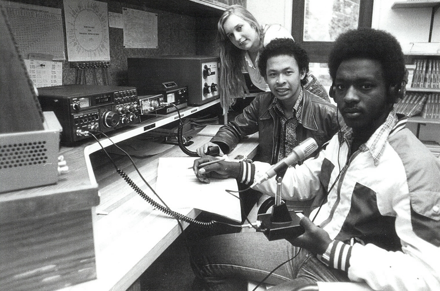 1981: Students at Pearson College Radio