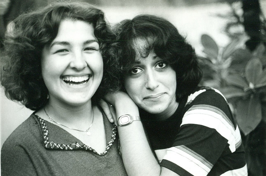 1981:Our first student from Turkey, with a student from Israel
