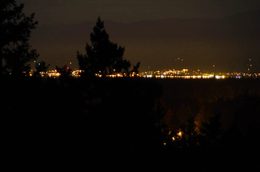 2005:View from the Pearson College Observatory at night