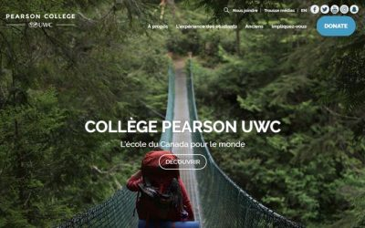 Pearson College UWC website now bilingual